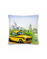 Cushion Cover Taxi Painting