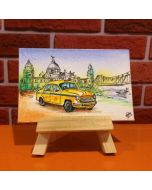 Hand Painted Mini Canvases - Kolkata Taxi