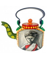 Hand-painted Kettle Durga Maa Bengal Art Handicrafts