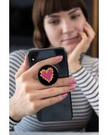 Pop Socket Expanding Stand And Grip For Smartphones-Pink Heart