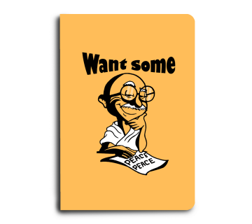 Want some peace. A5 Notebook
