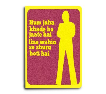 A5 Notebook Bollywood Movie