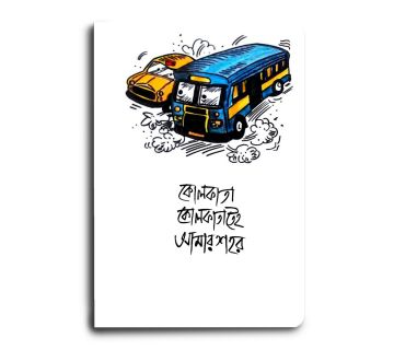 A5 Notebook  Kolkata Calcutta Bus Taxi