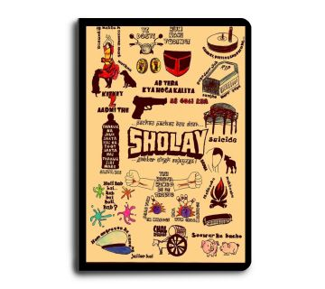 A5 Notebook  Sholay