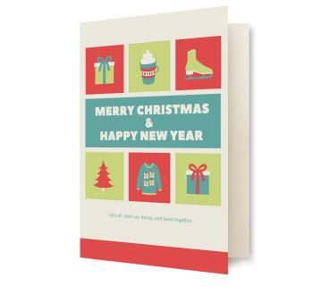 Greetings Card M.X.Mas H.N.Y