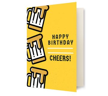 Happy Birthday Greetings Card Cheers