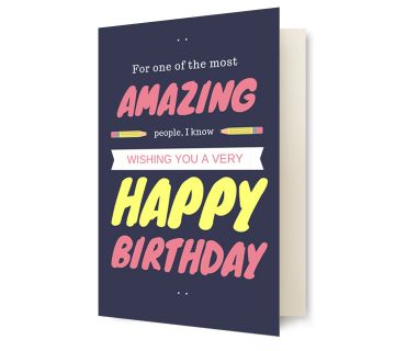 Happy Birthday Greetings Card Amazing Happy Birthday