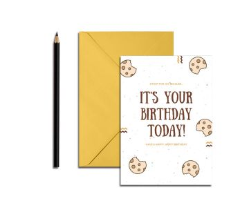 Happy Birthday Greetings Card It's Your Birthday Cookies