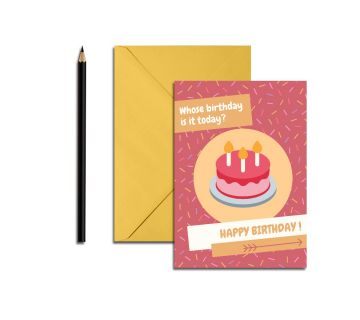 Happy birthday greetings Cards Cakes Pink