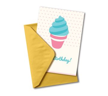 Happy Birthday Greetings Card Ice-cream