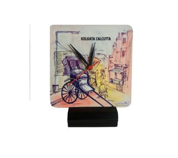Table Clock-Rickshaw Sketch