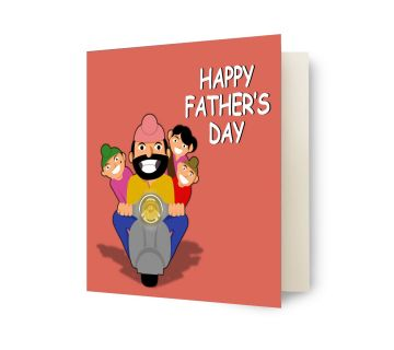 Father's Day Greeting Card for Dad (Happy Father's Day) - Unique Gift for Father/Father-in-Law on Father's Day