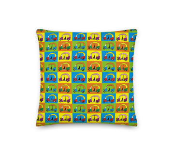 Cushion Cover Auto Pop Art