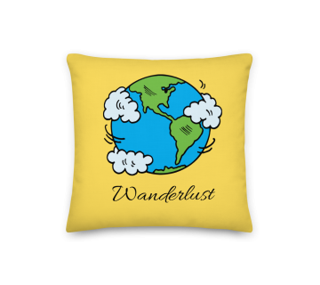 Cushion Cover- Wanderlust Globe