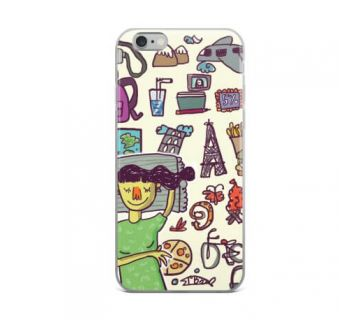 Apple iPhone 6 Print Slim Back Cover (Wanderlust Female)