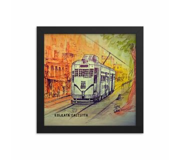 Sketch Tram Framed Wall Art