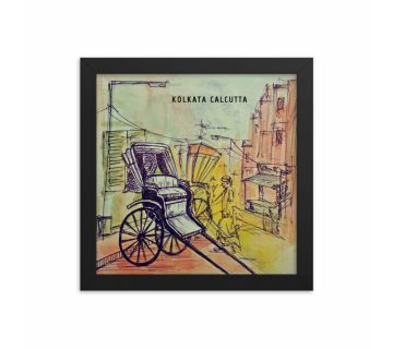Sketch Rickshaw Framed Wall Art
