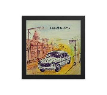 Sketch Taxi Framed Wall art