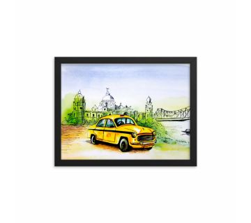 Painting Taxi Framed Wall Art