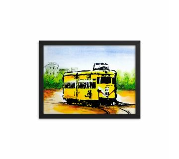 Painting Tram Framed Wall Art