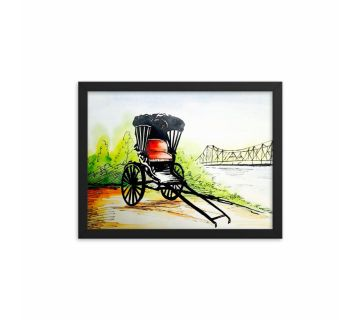 Painting Rickshaw Framed Wall Art