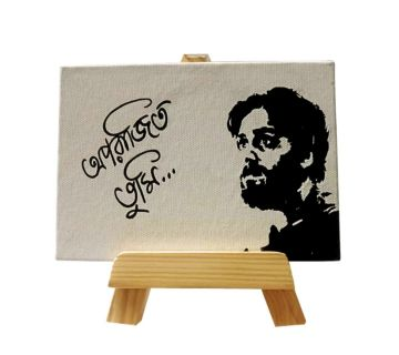 Hand Painted Mini Canvas- Soumitra Chaterjee