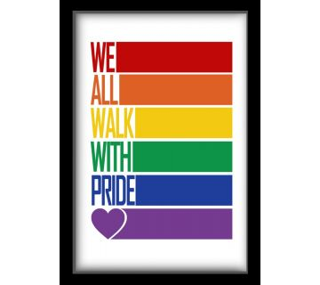 Wall Art-We all walk with pride