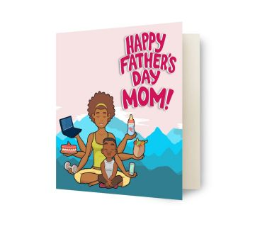 Greetings Card-Happy Fathers Day Mom