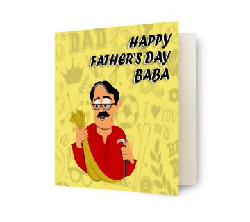 Greetings Card-Happy fathers day baba