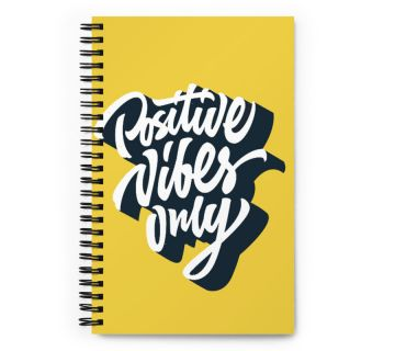 Wire O Notebook-Positive Vibes Only