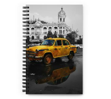 Wire O Notebook-Black and White taxi