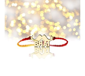 Rakhi gifts for Brother in Rakhsha Bandhan gold plated {Bhai Moustache}