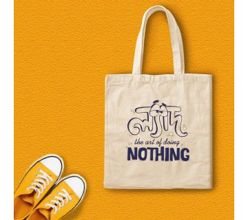 Lyadh Art of doing Nothing Canvas Tote bag