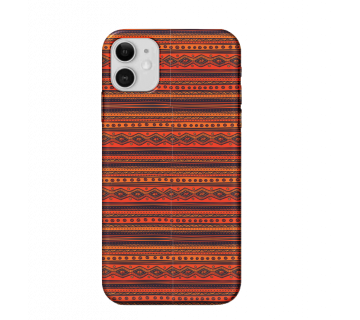 iPhone 11 Back Cover Red Pattern
