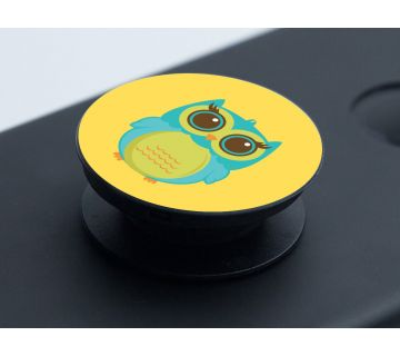 Pop Socket Expanding Stand and Grip for Smartphones-Owl