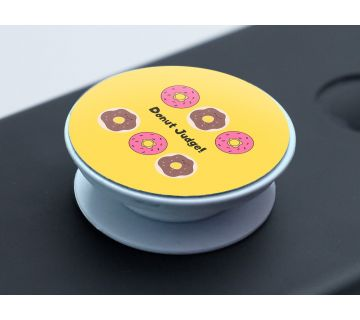 Pop Socket Expanding Stand and Grip for Smartphones- Donut judge