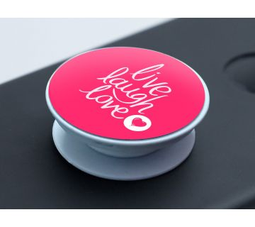 Pop Socket Expanding Stand and Grip for Smartphones-Live Laugh Love