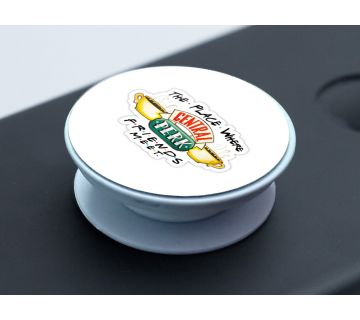 Pop Socket Expanding Stand and Grip for Smartphones-Central perk where friends meet