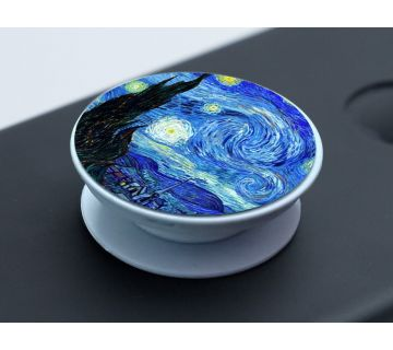 Pop Socket Expanding Stand and Grip for Smartphones-Starry Night