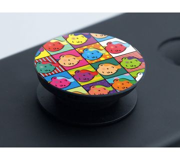Pop Socket Expanding Stand and Grip for Smartphones-Tintin Pop Art