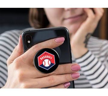 Pop Socket Expanding Stand and Grip for Smartphones-Baseball