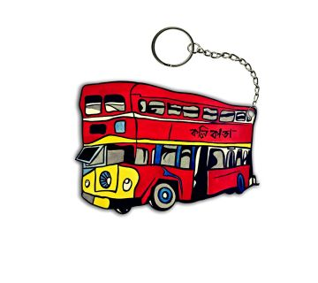 Key Chain Red Bus