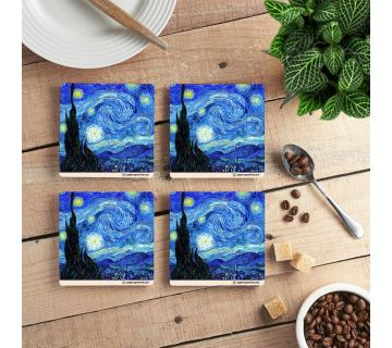 Starry Starry NIght Coffee Coaster (set of 4)