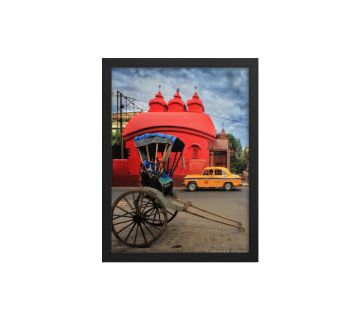 Red Temple Framed Wall Art